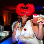 Air New Zealand love goddess Cheryl Pasko at the pre-flight party at LAX.