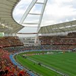 Inside the stadium during the Spain vs Switzerland game in 2010.