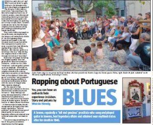 Fado in Lisbon in Sunday Tribune.