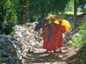 Mount Phousi Luang Prabang monks