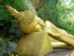 Sleeping Buddha Mount Phousi, Luang Prabang, Laos.