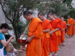 Buddhist monks Laos.