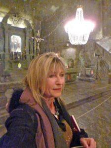 inside the Wieliczka Salt Mine cathedral