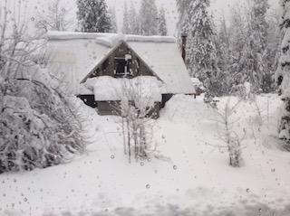 Train snow scenery.