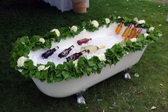 Booze bath wedding.