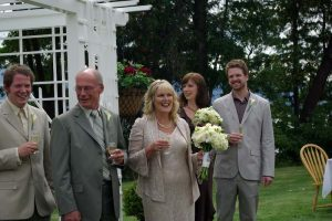 Wendy and Richard tie the knot.