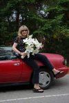 Woman flowers Thetis island