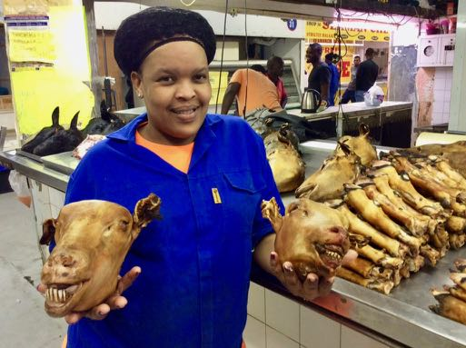 Smiley Durban market