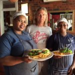 Steve Clements with chefs Tubby Madlala and Glynis Khawula